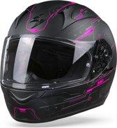 Scorpion EXO-390 Beat Matt Black Pink Full Face Helmet S