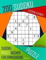200 Sudoku Extrem Schwer: Extrem Schwer Sudoku Puzzle B�cher f�r Erwachsene mit L�sung