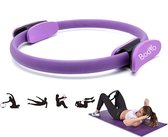Bodio Pilates ring – Yoga ring – Fitness ring – Pilates ringen – Paars – Ø 38 cm – Inclusief instructies – Pilates – Yoga – Fitness – Full body workout