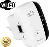 Draadloze WiFi Versterker Stopcontact + Inclusief GRATIS Internetkabel - Wifi Signaalversterker - Ethernet - Wireless Range Extender - 2.4 Ghz - 300 mbps - Wit - STATCH