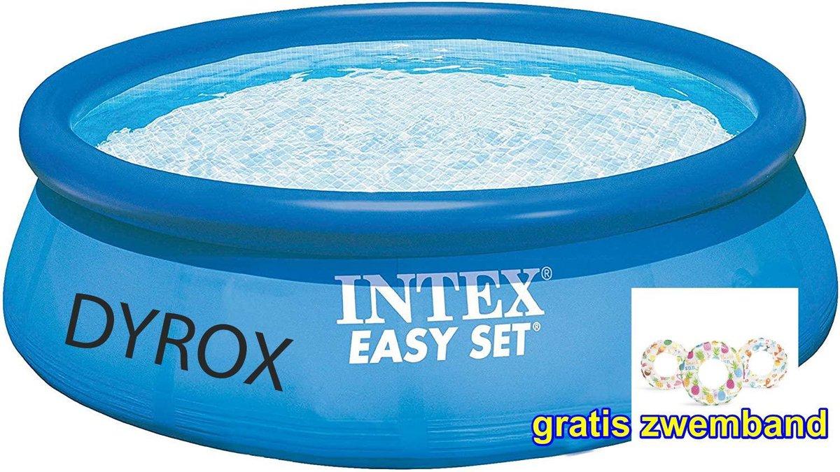 Intex Easy-Pool GROOT Opbouwzembad, 305 x 76 cm. Wordt u aangeboden door DYROX. + 1 GRATIS zwembanden - Zwembad - Tuin - Camping