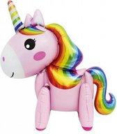 DW4Trading® Ballon grote eenhoorn/unicorn roze 58x73 cm