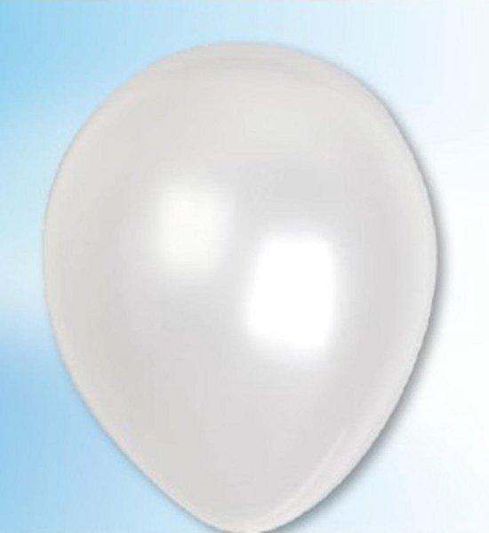 Ballonnen parel wit (12,5cm, 100st)