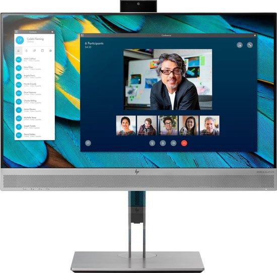 HP EliteDisplay E243m 23.8'' Full HD IPS Zwart, Zilver computer monitor