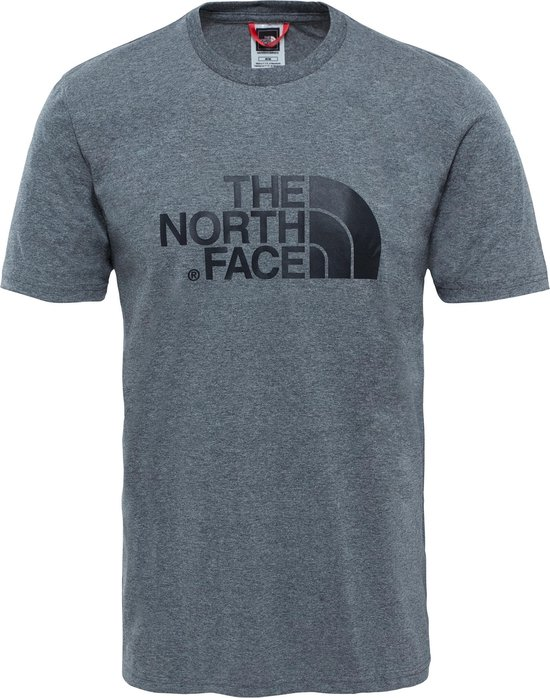 The North Face S/s Easy Tee - Eu Outdoorshirt Heren - TNF Medium Grey Heather (Std)