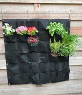 Verticale tuin met 36 zakken - hangende moestuin of kruidentuin voor groene vingers - 1x1 meter