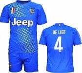 Juventus Replica Matthijs de Ligt Alternatief 3e Tenue Voetbalshirt + Broek Set Blauw / Geel, Maat:  140