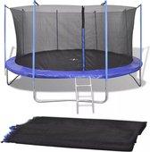 vidaXL Veiligheidsnet PE zwart voor 4,57 m ronde trampoline