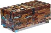 Salontafel kist massief gerecycled hout 80x40x35 cm