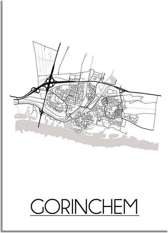 DesignClaud Gorinchem Plattegrond poster A3 poster (29,7x42 cm)