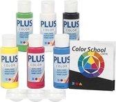Plus Color Acrylverf Set 6x60 ml Primaire kleuren