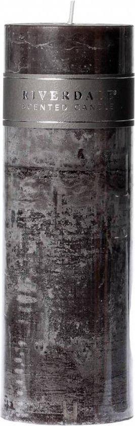 Riverdale Pillar – Geurkaars – Donkergrijs – 7.5×23 cm