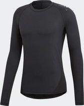 adidas Alpaskin Sport LS Heren Sportshirt - Black - Maat XXL