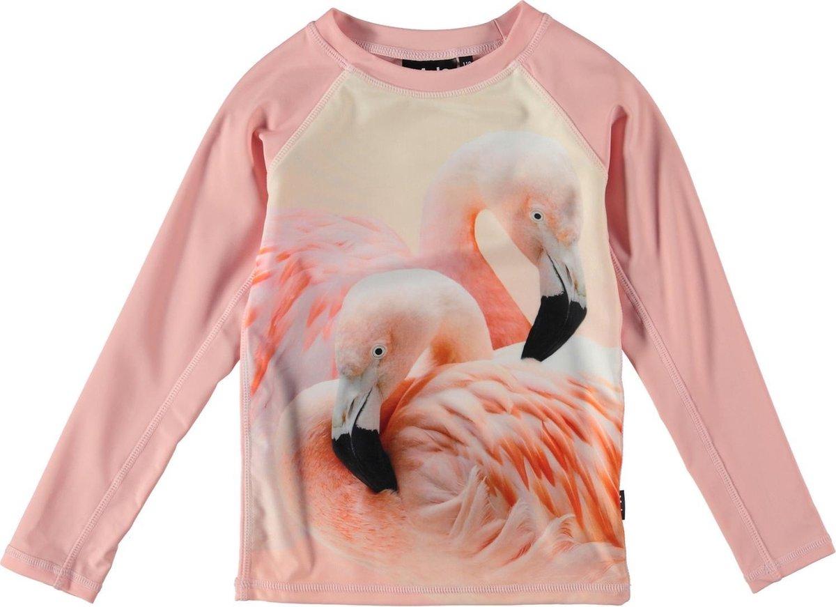 Molo UV zwemshirt meisjes lange mouwen Neptune Flamingo roze