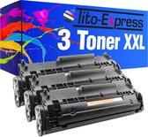 TIto-Express PlatinumSerie 3x HP Laserjet Q2612A 12A XL alternatief voor HP Laserjet Q2612A 12A