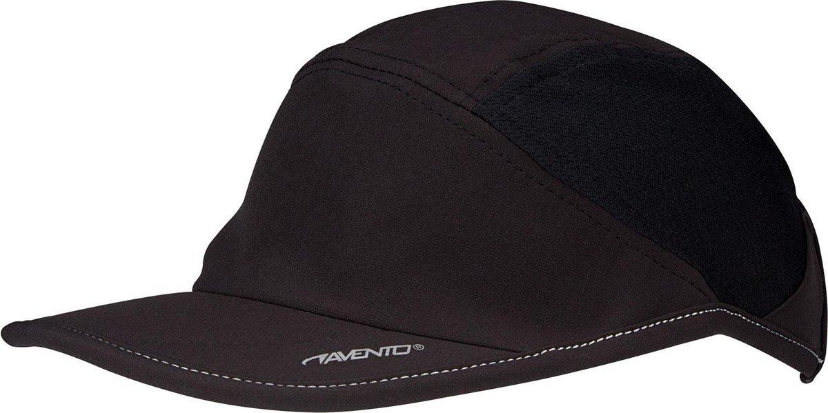 Avento Runningcap - Quick Dry - Zwart/Zilvergrijs - Avento
