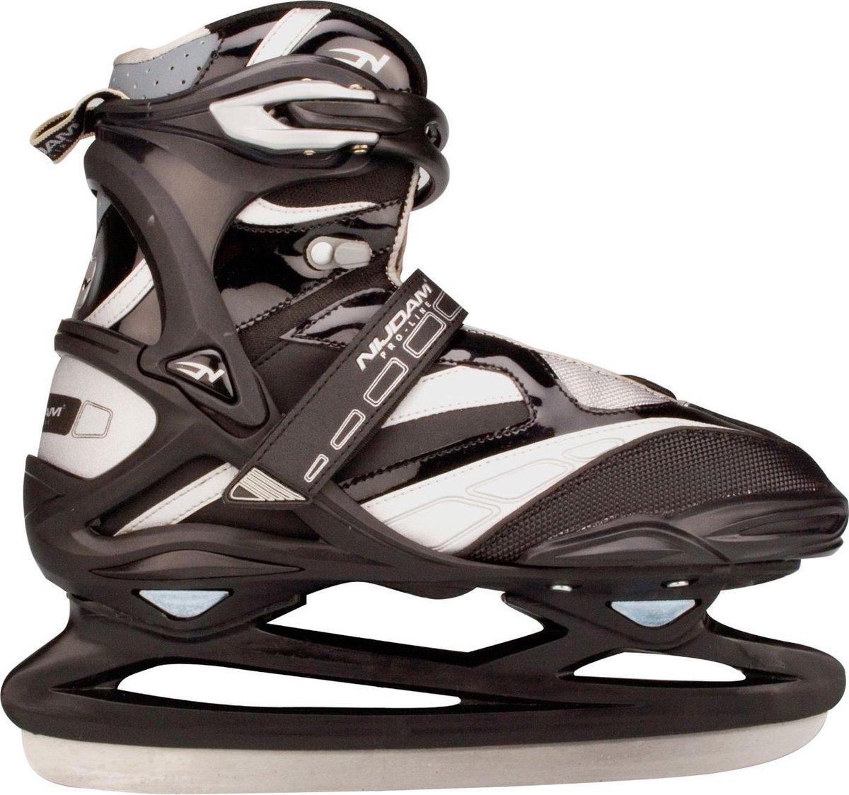 Nijdam 3382 Pro Line IJshockeyschaats - Schaatsen - Unisex - Volwassenen - Zilver - Maat 43