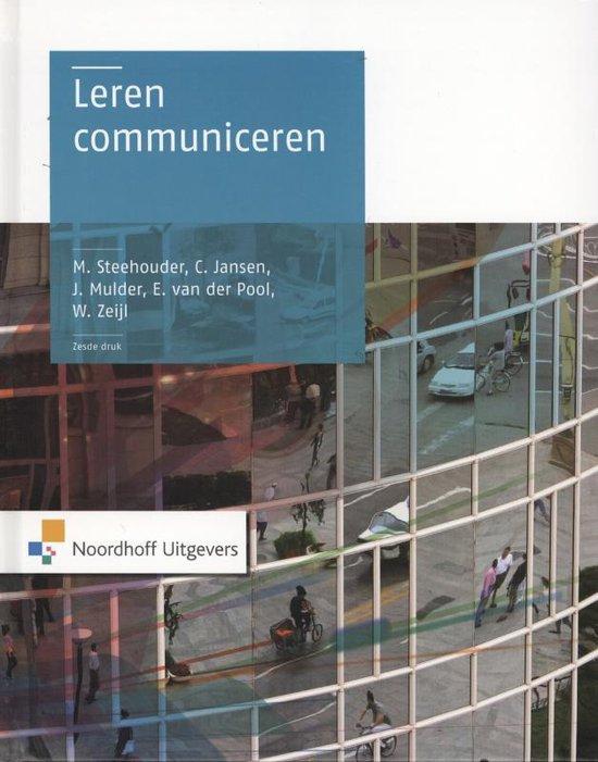 Boek cover Leren communiceren van Michael Steehouder (Hardcover)