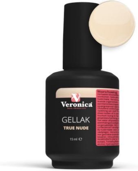 Veronica NAIL PRODUCTS UV nagellak TRUE NUDE, Gel nagellak, perfect nagels lakken met gel en nagellak in één!