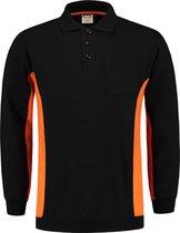 Tricorp Polo Sweater Bicolor Borstzak 302001 Zwart / Grijs  - Maat XXL