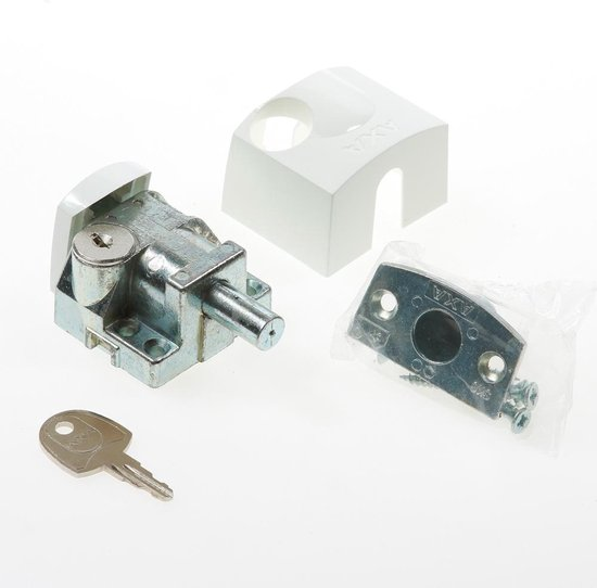 AXA 3012 Veiligheids oplegslot - 3012-20-98/G - draairichting 3-4 - wit