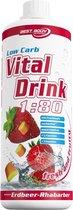 Best Body Nutrition Low Carb Vital Drink - 1000 ml - Raspberry