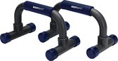 Body & Fit Opdruksteunen - Push-up bars - Zwart / Blauw