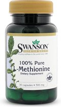 Swanson Health 100% Pure L-Methionine 500mg - Essentieel Aminozuur - 30 capsules