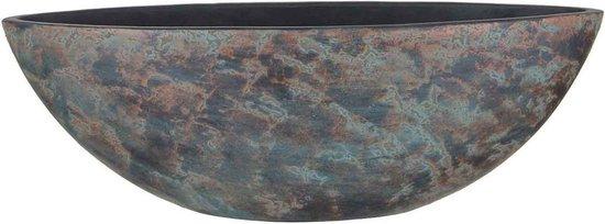 Mica Decorations clemente pot ovaal koper maat: 57 x 17 x 19cm