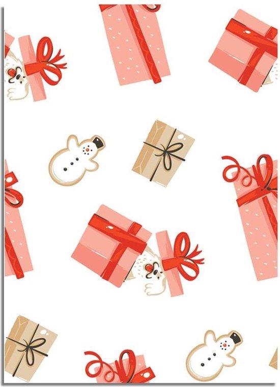 DesignClaud Kerstposter cadeautjes - Kerstdecoratie Kleurrijk A3 poster (29,7x42 cm)