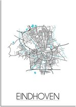 DesignClaud Eindhoven Plattegrond poster A4 poster (21x29,7cm)