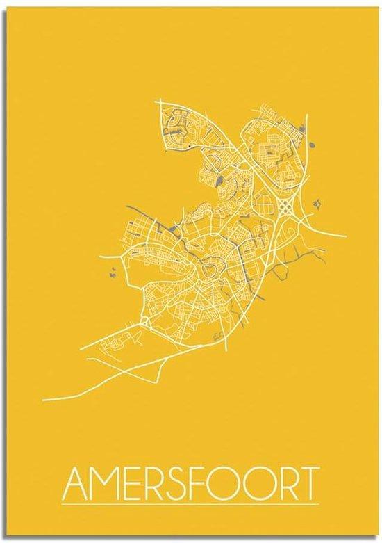 Plattegrond Amersfoort Stadskaart Poster DesignClaud - Geel - A2 poster