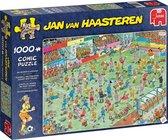 Afbeelding van Jan van Haasteren WK Vrouwenvoetbal Puzzel 1000 Stukjes