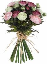 Mica Decorations ranonkel boeket maat in cm: 30 roze