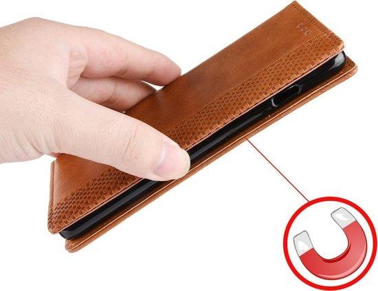 Mobigear Magnetic Buckle Retro Luxe Wallet Hoesje Zwart Motorola Moto One Vision