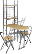 VidaXL - Ontbijttafelset met twee stoelen - inklapbaar