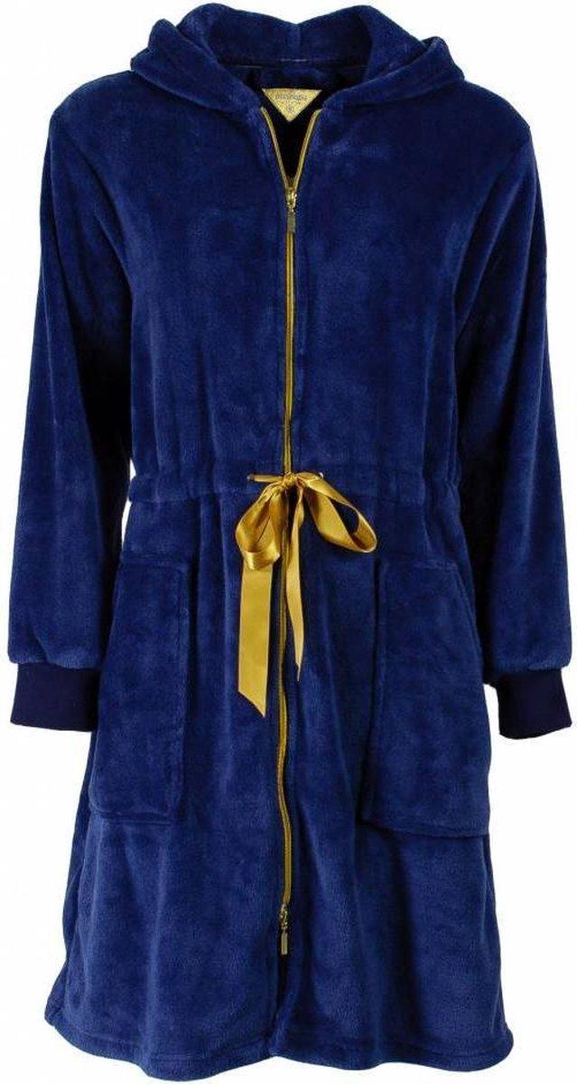 Irresistible Dames Badjas Blauw Maten: M - Irresistible