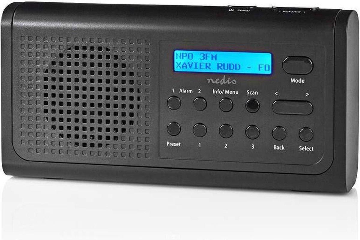Nedis Dab+-Radio   Draagbaar Model - 3 W - Batterij / Netvoeding   Zwart