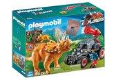 PLAYMOBIL Dinos Offroad buggy met dinovangnet - 9434