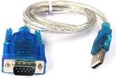 Dolphix USB-A (m) naar 9-pins SUB-D (m) seriële RS232 adapter - 0,80 meter