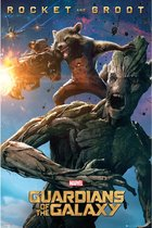 Rocket and Groot Marvel-Guardians of The Galaxy poster 61x91.5cm.