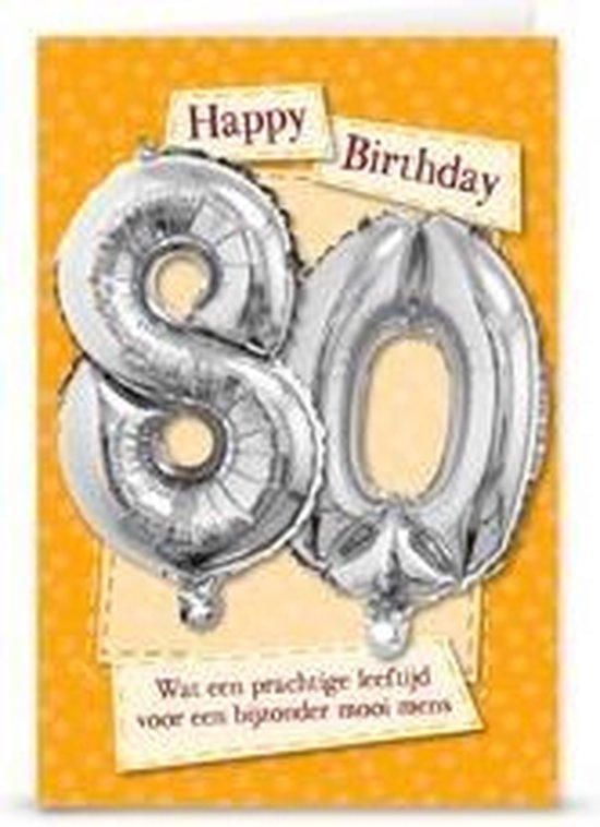 Miko - Kaart - Leeftijdballon - 80 Jaar