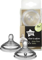 Tommee Tippee Closer to Nature Flesspeen x2 - Langzame Stroom
