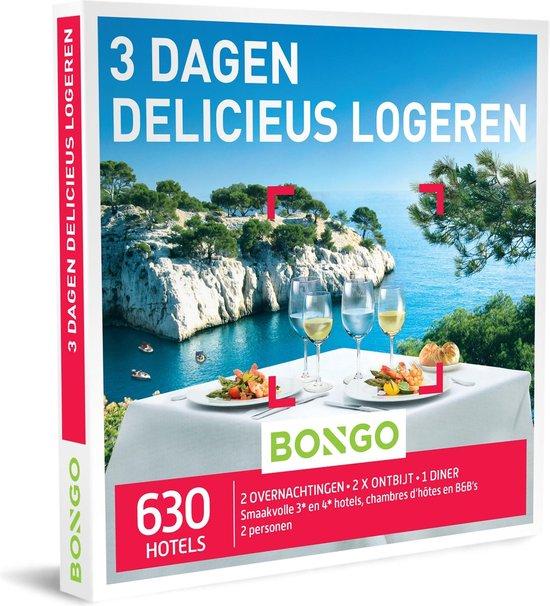 Bongo Bon Nederland - 3 Dagen Delicieus Logeren Cadeaubon - Cadeaukaart cadeau voor koppels   630 smaakvolle hotels