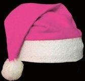 Kerstmuts, kerstmis, santa hat, basic kerstmuts - roze - 12 stuks