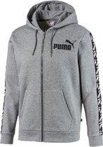 PUMA Amplified Hooded Jacket FL Heren Trui - Medium Gray Heather - Maat L
