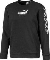 PUMA Amplified Crew FL Heren Trui - Puma Black - Maat XL