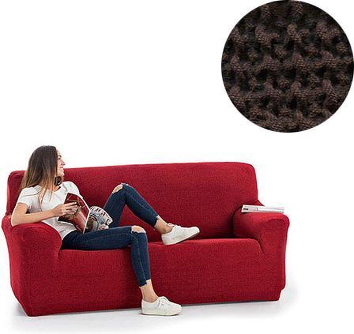Milos meubelhoezen - Bankhoes 130-180cm - Bruin - Verkrijgbaar in verschillende kleuren!