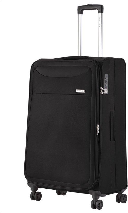 CarryOn Air Reiskoffer 77cm | TSA Trolley met dubbele wielen | OKOBAN registratie | Expander tot 120 liter | anti-diefstal rits – Zwart