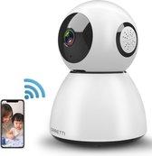 Orretti® X3 Cloud IP Beveiligingscamera - Geluids- en Bewegingsdetectie - Babyfoon met camera - Wit